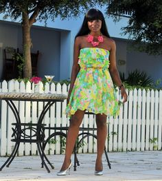 Steal this style by The Fashion Stir Fry! It's perfect for a summer wedding or a bbq!
