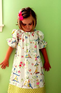 My Little Love Bird Peasant Dress...2 3 4 5 by FrogPrincessCouture