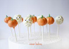 Halloween Kürbis Cake Pops & Glubschi Mumien Cake Pops | niner bakes