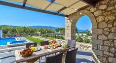 Villa Azure 3 bedrooms - Authentic Crete, Villas in Crete, Holiday Specialists Crete, Villas, Bedrooms, Patio, Luxury, Outdoor Decor, Holiday, Home Decor, Vacations