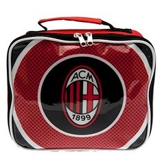 lunch bag with name tag approx x x with a swing tag official licensed product Ac Milan Shirt, Mini Cooler, Sports Merchandise, Souvenir Store, European Soccer, Insulated Lunch Box, Team Wear, Laptop Backpack, Shopping Bag