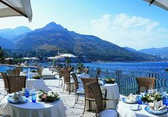Breathtaking View for  a wedding reception in Taormina, Italy