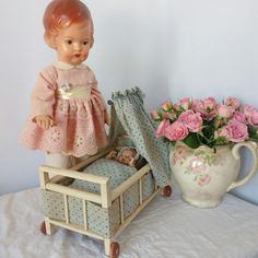 Beautiful old doll cribs available at ShabbyGoesLucky's!