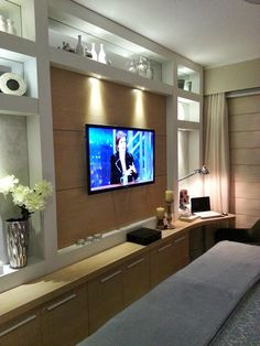 Diseños de gabinete de TV de pared increíble 9220