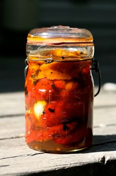 Home_canned_roasted_red_peppers. I double checked on this recipe and its in several Extension sites, okay to water bath can