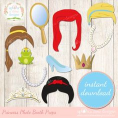 Princess printable photo booth props Princess Party Theme - Shopping Guide | Life's Little CelebrationsLife's Little Celebrations