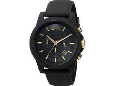 Features: Silicon Case Silicon Strap Quartz Movement Mineral Crystal Black Dial Analog Display Chronograph Function Date Display Solid Case Back Buckle Clasp Water Resistance Approximate Case Diameter: Approximate Case Thickness: Armani Watches, Watch Sale, Seiko, Casio, Fashion Watches, Michael Kors Watch, Watches For Men, Quartz, Display