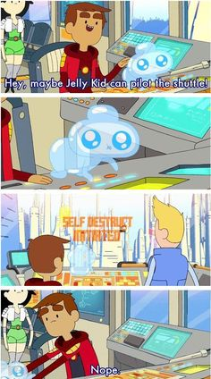 Credit to the artist. Source is Bravest Warriors // funny pictures - funny photos - funny images - funny pics - funny quotes - Cool Cartoons, Disney Cartoons, Funny Photos, Funny Images, Jelly Kid, Pendleton Ward, Bravest Warriors, Cartoon Crossovers, Pokemon