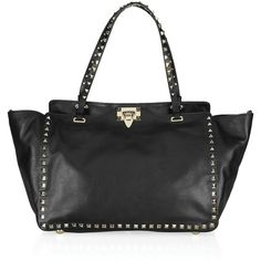 Valentino Studded leather tote ❤ liked on Polyvore