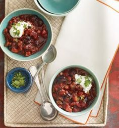 Cherry-Chipotle Chili: Recipes: Self.com
