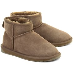 EMU Stinger Micro Mushroom - Beżowe Zamszowe Kozaki Damskie #mivo #mivoshoes #shoes #buty #emu #winter #suede #cold #weather #boots #brown #colors #fashion #popular #style #stylish #new #collection #newcollection #snow #2015 #2016