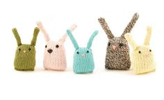 Bunny Nuggets by Rebecca Danger - a free knitting pattern for these cute bunnies on ravelry Knitting Patterns Free, Knit Patterns, Free Knitting, Baby Knitting, Free Pattern, Simple Knitting, Knitting Toys, Cat Pattern, Knitting Projects