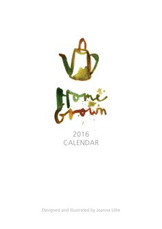Home Grown Calendar -  A Festive Collaboration - Truro College Art department and Uneeka, Joanna Lillie's A2 Graphics Calender as a live project. On sale now at Uneeka Life, Truro. 2015 Uneeka Supporting Young Creatives
