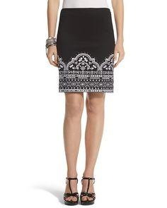 Petite Embroidered Pencil Skirt - White House | Black Market