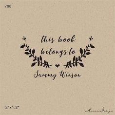From the library of-Custom Stamp -This Book Belongs to - handmade Stamp - teacher stamp-classroom stamp-custom Rubber Stamp