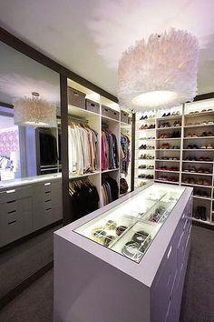 Construindo Minha Casa Clean: Closets Decorados e Organizados! Veja Dicas e Modelos!