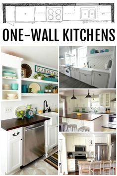 kitchen design single wall kitchen layouts via remodelaholiccom - One Wall Kitchen Designs