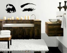 Beautiful Eyes Big Eye Lashes Wink Decor Wall Art Mural Vinyl Decal Sticker M462 by DesignToRefine, http://www.amazon.com/dp/B008ZIUH4I/ref=cm_sw_r_pi_dp_RGQqrb1Q4SE3V