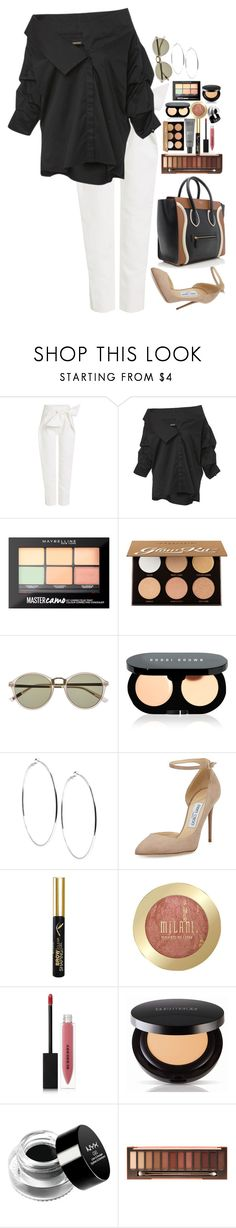 """Untitled #4874"" by veronicaptr ❤ liked on Polyvore featuring Delpozo, Johanna Ortiz, Maybelline, Anastasia Beverly Hills, Witchery, Bobbi Brown Cosmetics, GUESS, MAKE UP FOR EVER, Jimmy Choo and Milani"