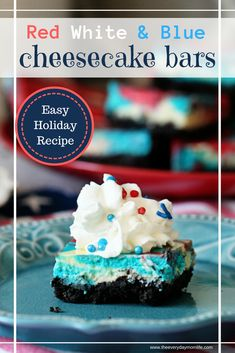 Celebrate The 4th With The Best Cheesecake Bars #recipe #recipeoftheday #fourthofjuly #4thofjuly #cheesecake #recipeshare #holiday #holidaybaking #foodart #food #baking #cooking #entertaining #partyfood #partyideas #barbecue