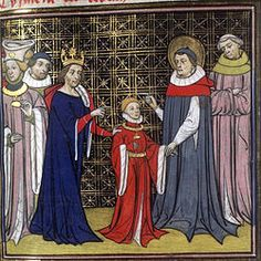 Clotaire II, Dagobert 1er et Saint Arnoul - Grandes Chroniques de France - XIV ou XVème - BNF Paris