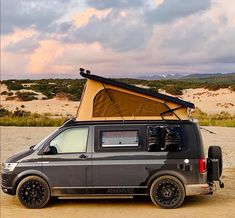 Image may contain: sky, cloud, outdoor and nature Vw Transporter Camper, T5 Camper, Vw T5, Van Conversion Shower, Vw California Beach, Vw Camping, Build A Camper Van, Van Car, Cool Vans