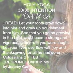 #colossians #rootdowntoriseup #holyyoga #biblestudy #wordofgod #faithandfitness #peace #becomingstrong #practicenotperfection #yoga #christinme #reflect #meditate