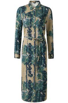 The Big Wave | Early Fall | Dress | Blouse | Beige | Blue | Print