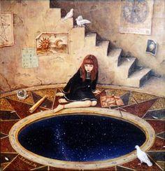 ASTROLOGY | Shiori Matsumoto ノスタルジックな少女たちの世界を描く松本潮里の絵画作品集