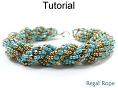 Regal Rope Double Spiral Stitch Beaded Bracelet Beading Pattern Tutorial | Simple Bead Patterns