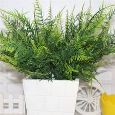 Artificial Decorations Ingenious 1pc Artificial Plastic Persian Fern Tree Leaves Plastic Green Simulation Plant Fake Leaves Rattan Classic Home Decoration New