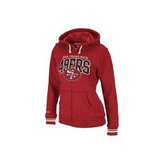 8da97b45465 Mitchell Ness San Francisco 49ers Ladies Scarlet Arch Rivals Full Zip Hoodie  Sweatshirt and other apparel