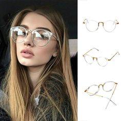 R  17.03 15% de desconto Super Clear Transparente Cristal Pantos Quadro  Lente Clara óculos Retro Óculos De armação rosa óculos de sol óculos de  armação ... 627b7f1683