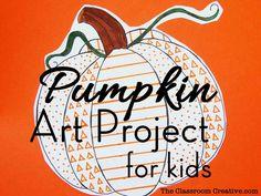 Pumpkin Art Project for Kids Using Elements of Art