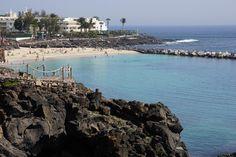 Lanzarote: Badebucht am Playa Blanca Uferweg