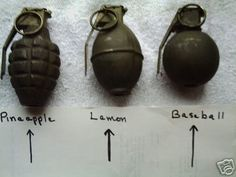 different grenades. I trained with the one on the right in 1973.