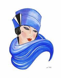 artdeco.quenalbertini: Deco Lady, Fleur Painting | Di Kaye