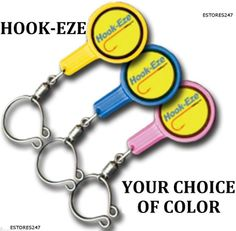 HOOK-EZE Tieing a Blood Knot just got EASY! Complete with line cutter,