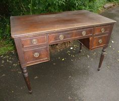 DESK Windsor Antique Writing Desk Original by poppycottage on Etsy, $450.00