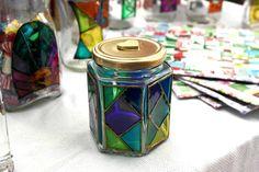 Frascos de vidrio pintados a mano - Reutilización