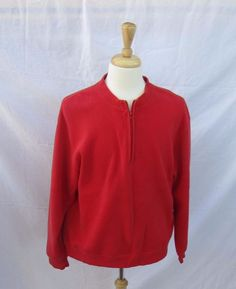 06c8e4f6ed56 Orvis Red Sweater Zip Up Crewneck Long Sleeve Sporting Tradition since 1856  XL  Orvis