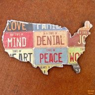 "A DIY Map :) Come & Enter this week's ""Best of America(na)"" Contest! @DecoArt Inc. Inc."