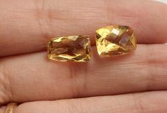 Citrine Cut Stone Fancy Shape Faceted Citrine 2 by gemsforjewels