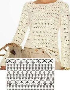 Afbeeldingsresultaat voor receitas de blusinhas de alça de croche