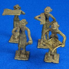 4 Vintage African Hand Made Folk Art Primitive Figurines Solid Cast Brass Burkina Faso Yoruba West Africa To see the Price and Detailed Description you can find this item in our Category Vintage Metal Ware on eBay: http://stores.ebay.com/tincanalley1/Vintage-Metal-Ware-/_i.html?_fsub=26200600018  RD15105