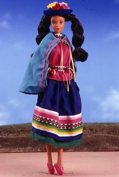 Collectiable Barbies-From The Dolls Of The World Collection-Peruvian Barbie-1986