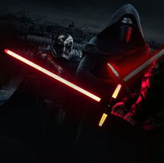 NEW 105cm Star Wars 7 The Force Awakens Kylo Ren LED sound lightsaber scalable Cosplay Darth Vader action figure toys doll