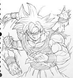 Dessin : Son Gokū (Kakarotto) Migatte no Gokui - L@低浮上 (@us_0315) Twitter