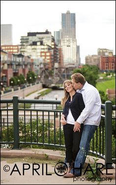View of Downtown Denver near the top of the hill at Confluence Park