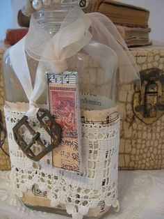 vintage altered bottle by littlethings